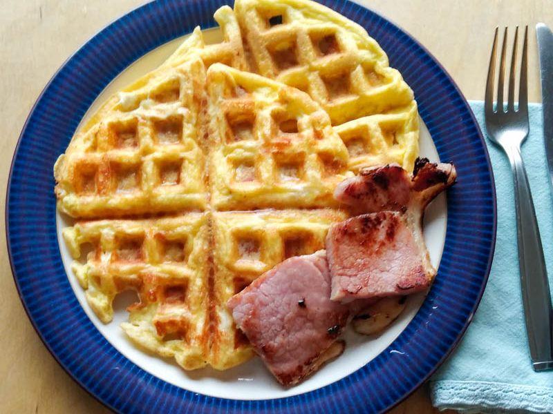 Chaffles - Low-salicylate cheesy keto wafffles