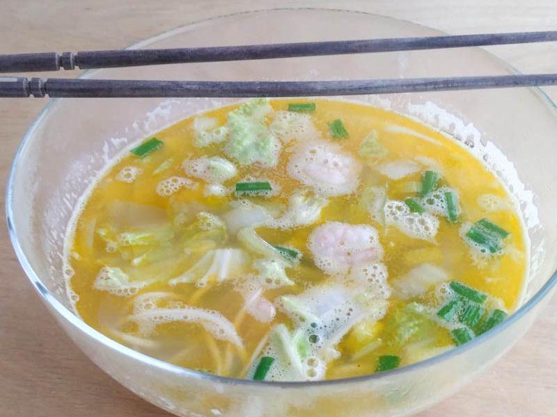 Yellow Shrimp Noodle Soup
