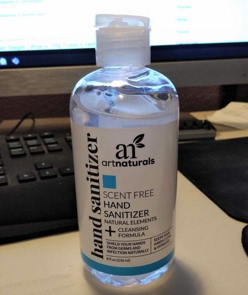 Art Naturals Scent Free Hand Sanitizer