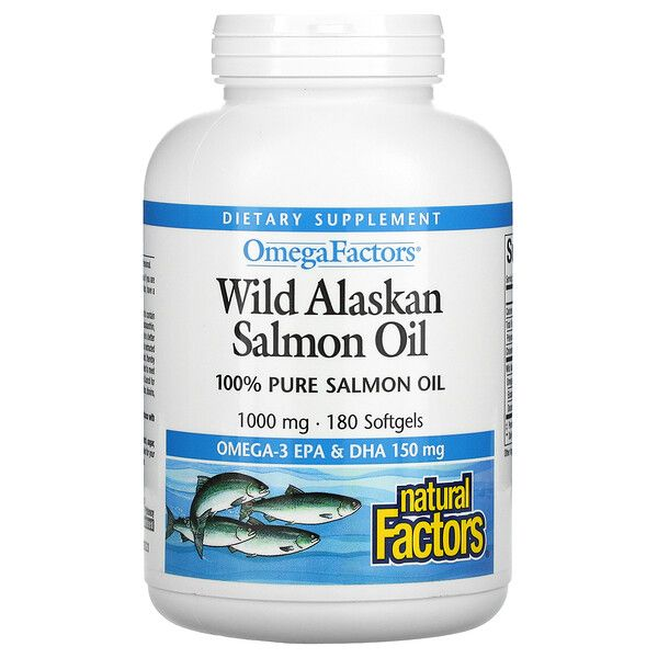 Omega Factors Wild Alaskan Salmon Oil 1000mg