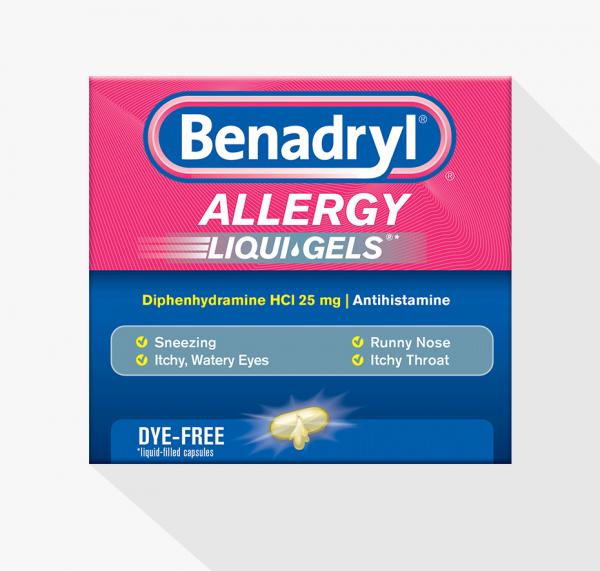 Benedryl Dye-free Allergy Liqui-gels