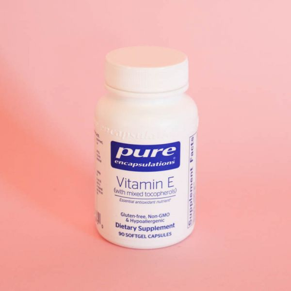 Pure Encapsulations - Vitamin E (with Mixed Tocopherols) - Dietary Supplement - Softgel Capsules